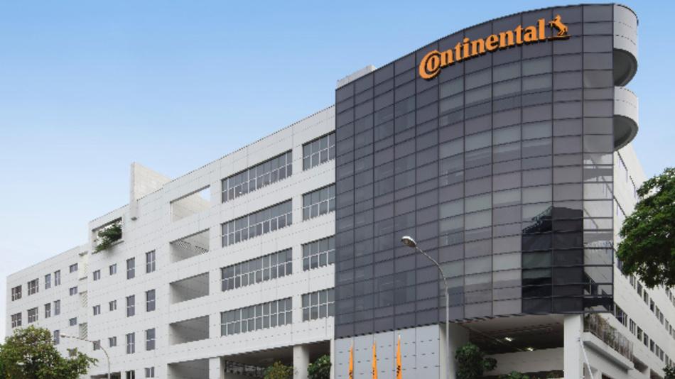 Außenansicht des neuen Bürogebäudes von Continental in Singapur.