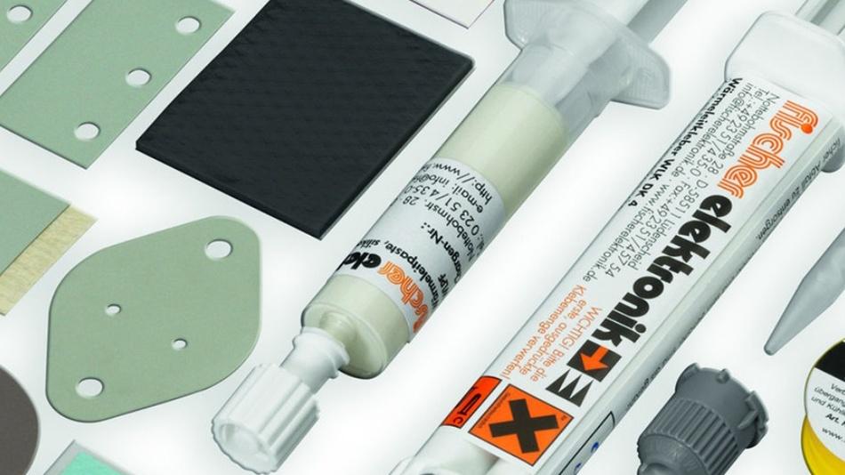 Bild 3: Um Bauteile an den Kühlkörper thermisch anzubinden, gibt es verschiedene Wärmeleitmaterialien.