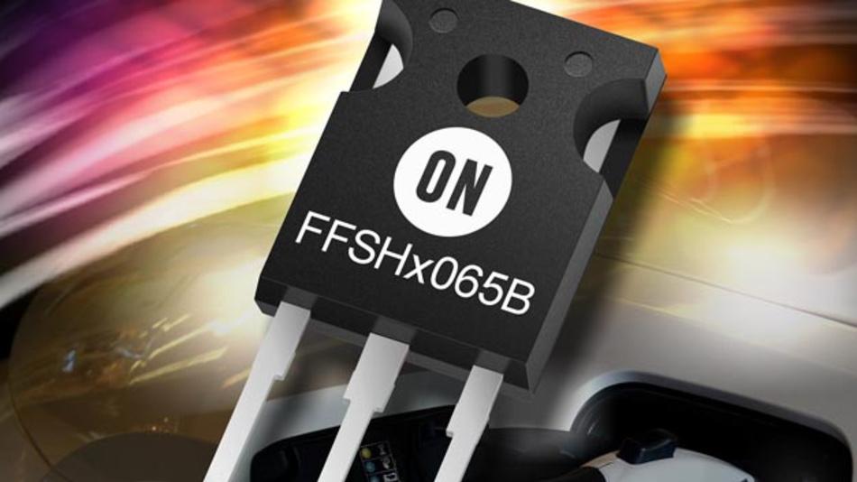 Die SiC-Dioden-Familie FFSHx065B von On Semiconductor überzeugen mit hoher Schaltleistung und Zuverlässigkeit.