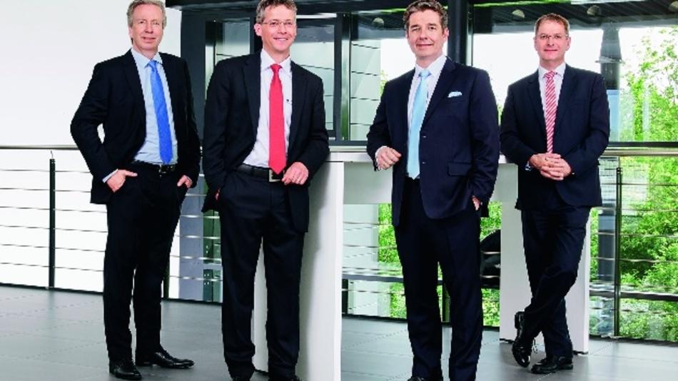 Der neu formierte Vorstand von Viscom (v.l.): Dr. Martin Heuser, Peter Krippner, Carsten Salewski und Dirk Schwingel