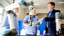 Kollaborative Robotik Zusammenschluss dreier Greifer-Hersteller