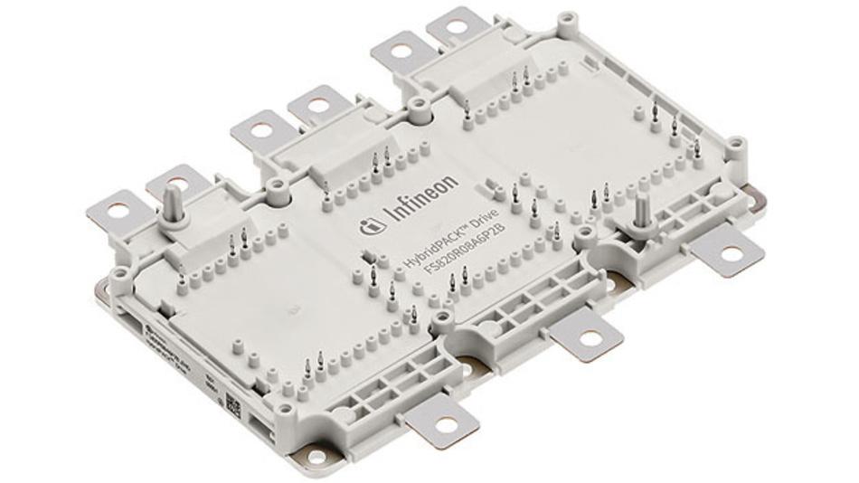 Bild 1. Das HybridPACK Drive Leistungsmodulgehäuse wurde hinsichtlich reduzierter Leistungsverluste, höherer Strombelastbarkeit und einfacher Skalierbarkeit entwickelt.