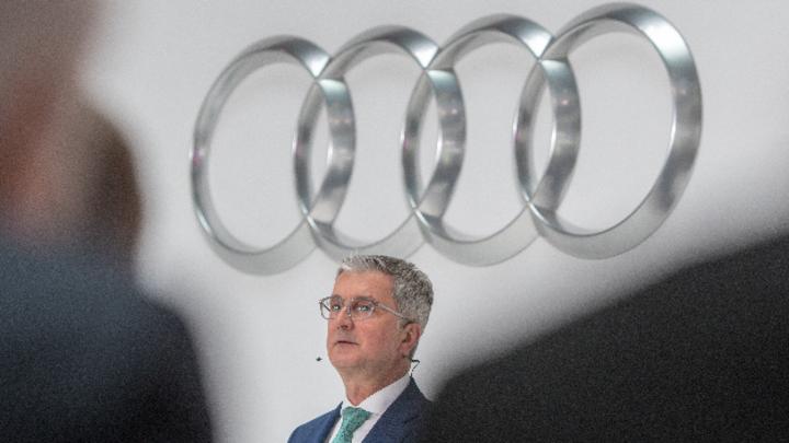 Rupert Stadler, Vorstandsvorsitzender des Fahrzeugherstellers Audi AG spricht während der Bilanz-Pressekonferenz.