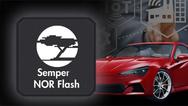 Die Semper NOR-Flash-Familie von Cypress umfasst nach AEC-Q100-qualifizierte Bausteine mit einem erweiterten Temperaturbereich von -40 bis +125 °C und  unterstützt Betriebsspannungen von 1,8 und 3,0 V.