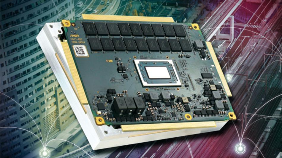 Mit dem VITA-59-konformen COM Express Rugged kann man AMDs Ryzen-Embedded-Prozessor auch bei einer TDP über 35W weiterhin lüfterlos betreiben.