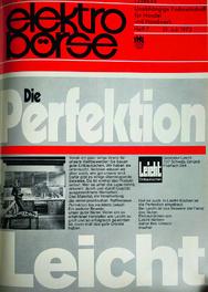Titel der Juli-Ausgabe der elektro-börse im Jahr 1973.