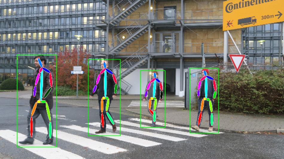 Intentions- und Gestenklassifikation von Fußgängern durch neuronale Netze.