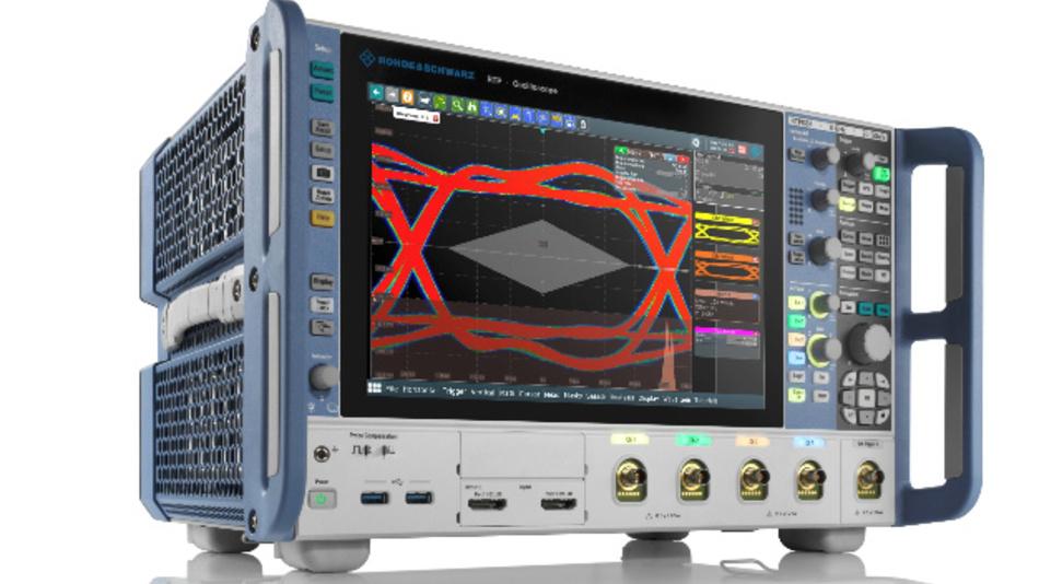 R&S neue Oszilloskop-Familie RTP für die obere Leistungsklasse. Erstmals wurde eine automatische Kompensation von Signalverlusten integriert.