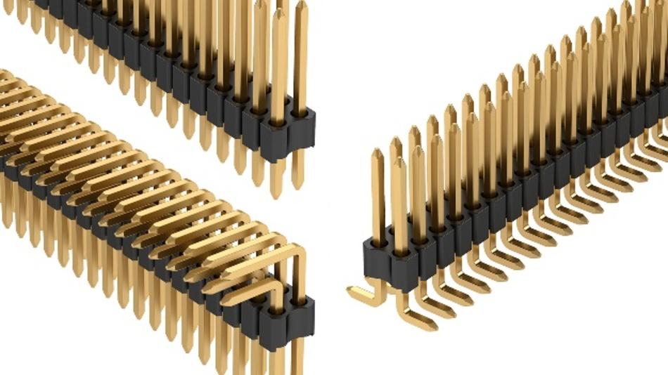 Stiftleistenreihe im Rastermaß 1,27 mm x 1,27 mm