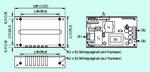 Bild 3. Typische mechanische Details eines Netzteils im U-Chassis mit Angabe der Montagepunkte und Anschlüsse.