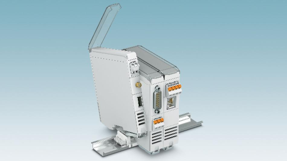 Bild 1: Das modulare Elektronikgehäuse ICS von Phoenix Contact wird mit einem geschlossenen Gehäusedeckel oder mit transparentem Klappdeckel über eine wieder lösbare Verrastung verschlossen.