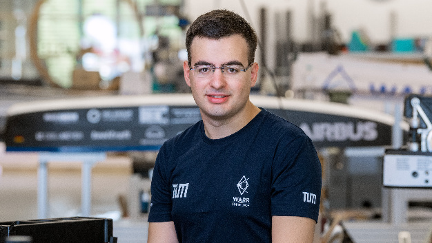 Gabriele Semino, Teamleiter des WARR Hyperloop Teams.