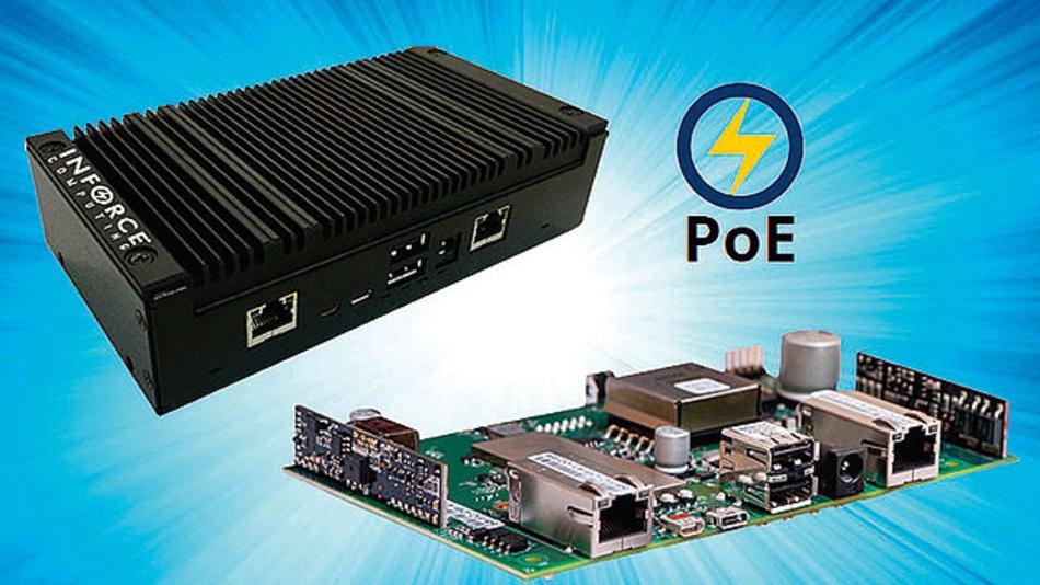 Die Inforce-6320-Plattform unterscheidet sich vom Wettbewerbslösungen durch Funktionen wie Dual-Gigabit-Ethernet mit Power-over-Ethernet-Unterstützung.