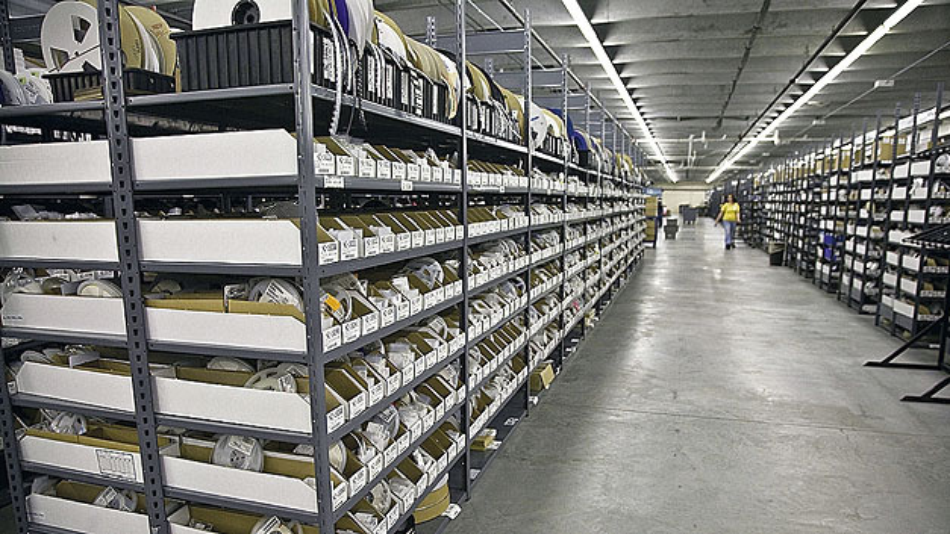 Der Distributionsspezialist hat nicht weniger als 1,4 Millionen verschiedene Komponenten auf Lager und damit versandbereit.
