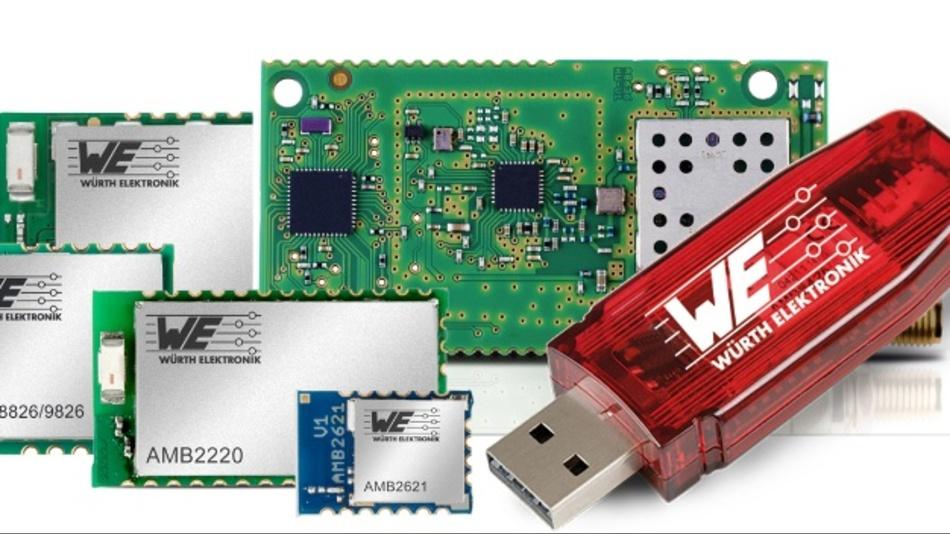 Würth Elektronik eiSos vertreibt ab sofort ihre Funklösungen zur drahtlosen Datenübertragung weltweit über die Farnell Group.