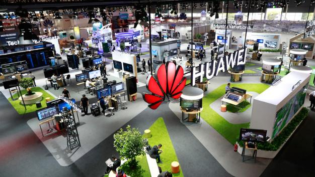 Huawei auf der CeBit 2018 in Hannover.