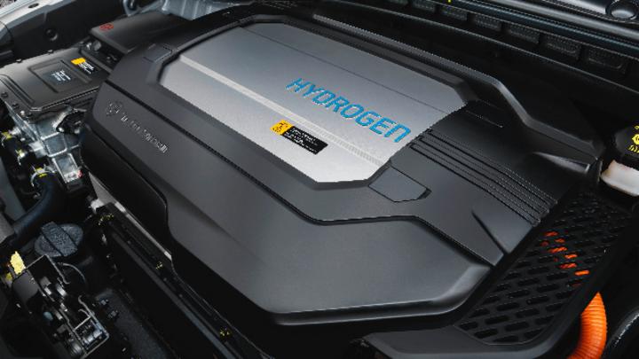 Blick in das Brennstoffzellen-Auto Nexo von Hyundai Motor