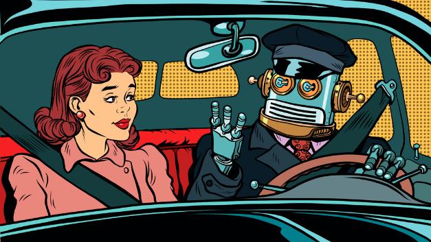 Kriminelle Maschinen im Knast bleiben vorerst Science Fiction. Doch wer haftet, wenn die KI am Steuer einen Verkehrsunfall verursacht?