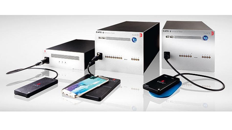 Bild 3. Testsysteme zum automatischen Prüfen von Wireless-Power-Sendern und -Empfängern nach den Spezifikationen des Qi-Standards.