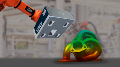 3D-Multi-Stereo-Sensor von Isra Vision inspiziert und digitalisiert Objekte in 3D.