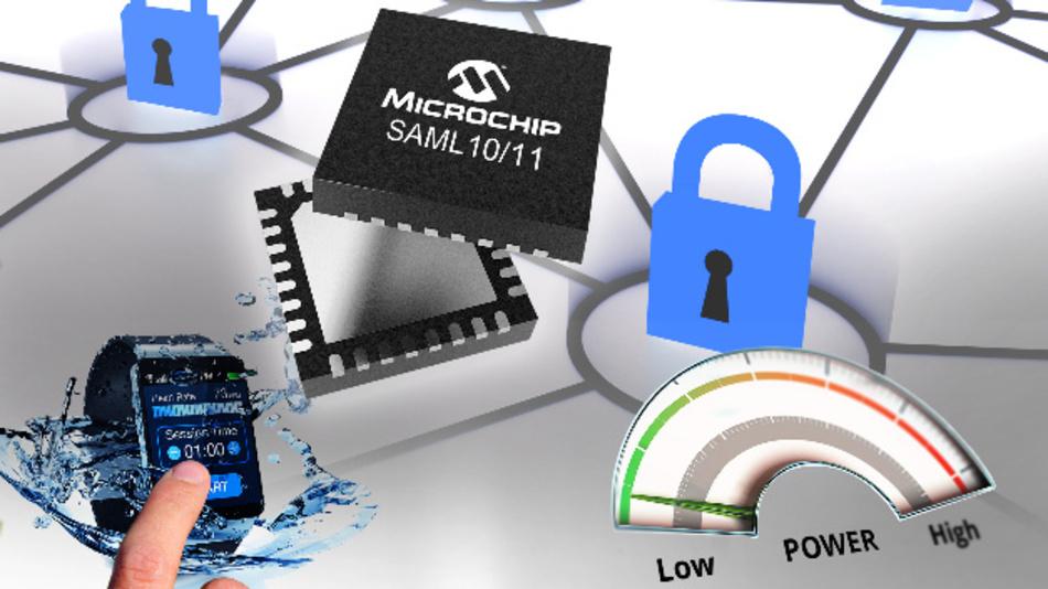 Sparsam, sicher und mit feuchtigkeitsimmuner Touch-Funktion sind die drei wesentlichen Eigenschaften der neuen 32-bit-Mikrocontroller von Microchip.