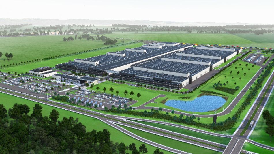 In Jawor, Polen, entsteht ein neuer Produktionsstandort für Vierzylinder-Motoren von Mercedes-Benz.