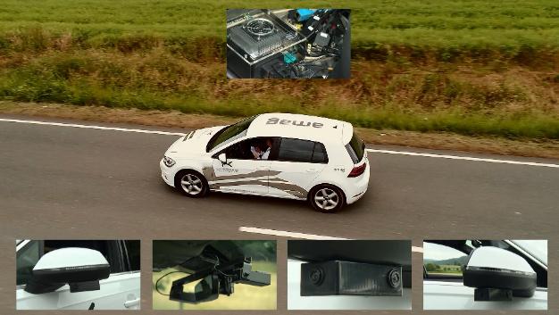 Zusätzliche Sensoren und ein Steuergerät machen aus einem herkömmlichen Auto ein autonomes Fahrzeug.