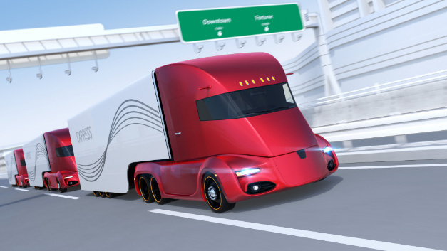 Das Fahren im Konvoi spart Spritkosten und Fahrerzeit.