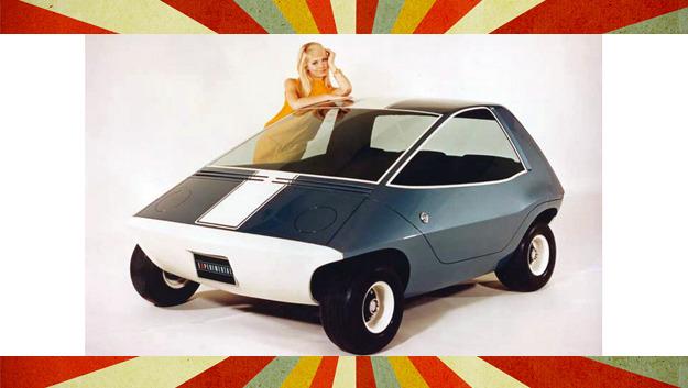 Das Konzept-Elektroauto Amitron bot Platz für drei Personen.
