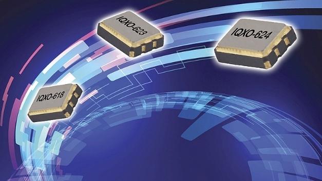Taktoszillatoren mit LVPECL(IQXO-623/IQXO-624)- und LVDS(IQXO-618)-Ausgängen