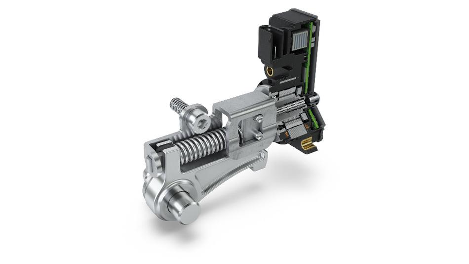 Der Parksperrenaktor (PLA) lässt sich leicht in bestehende E-Achssysteme oder dedizierte Hybridgetriebe integrieren.