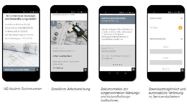 Für die vorbeugende Wartung in der Industrie bietet die Web-App IDconnect umfangreiche Möglichkeiten.