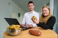 Test auf dem Förderband, Uni Saarland