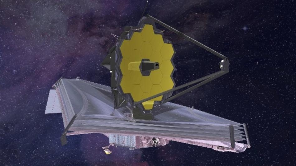 Die Computergrafik aus dem Jahr 2015 zeigt das «James Webb»-Teleskop.