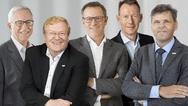Von Links: Dr. Rolf Bulander, Dr.-Ing. Stefan Hartung, Rolf Najork, Dr. Christian Fischer, Dr. Michael Bolle