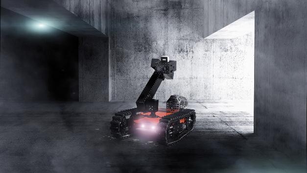 Beim Smokebot-Roboter liefern  unterschiedlichste Sensoren wie Radar, Kameras und Laser gemeinsam ein umfassendes Lagebild für Einsatzkräfte.