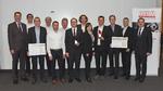 AMA-Innovationspreis 2018: Sieger-Teams von Bosch Sensortec, IST und Endress+Hauser.
