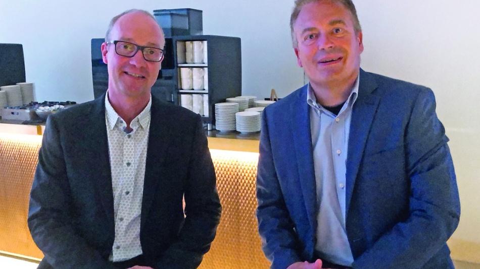 CTO Dr. Joe de Boeck (links) traf DESIGN&ELEKTRONIK-Chefredakteur Frank Riemenschneider im Headquarter von Imec in Leuven, Belgien.