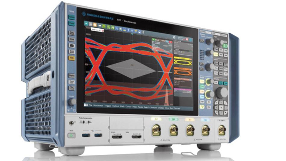 Die neuen Oszilloskope der R&S-RTP-Serie punkten mit einer Erfassungsrate von einer Million Messkurven pro Sekunde, der Kompensation von Transmissionsverlusten zwischen Signalquelle und Oszilloskop in Echtzeit und flüsterleisem Betrieb.