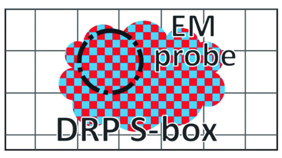 Bild 1a: Die S-Box-Implementierung unter lokaler Replizierung (DRP).