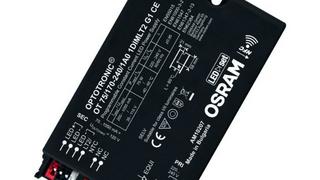 Die Treiber-Elektronik der Optronic-Familie 1DIM von Osram ist für Straßenbeleuchtung ausgelegt: Überspannungsschutz bis 10 kV für Leuchten mit Schutzklasse I und II, Ausgangsstrombereich zwischen 70 und 1050mA und eine autarke Dimmfunktion, die nic