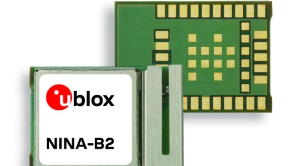 Dual-Mode Bluetooth 4.2 Modul NINA-B2 von u-blox