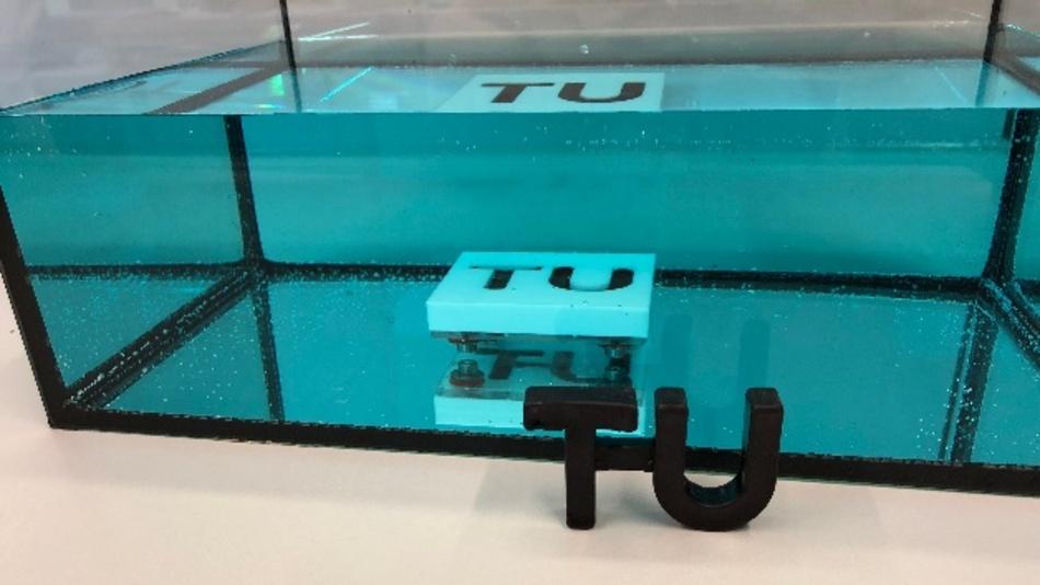 Das neue Material kann sogar unter Wasser ausgehärtet werden.