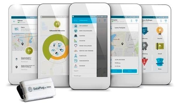 Der »DataPlug« ermöglicht in Kombination mit der »Volkswagen Connect«-App die Vernetzung älterer VW-Modelle.