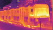 Wärmebild einer Straßenbahn