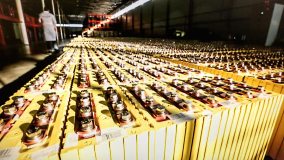 Produktion von Lithium-Ionen-Batterien für Elektrofahrzeuge.