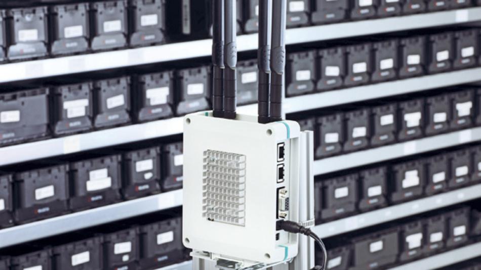 Bild 1: Logistik-Applikation: Einsatz des IoT-Gateways im Gehäuse UCS