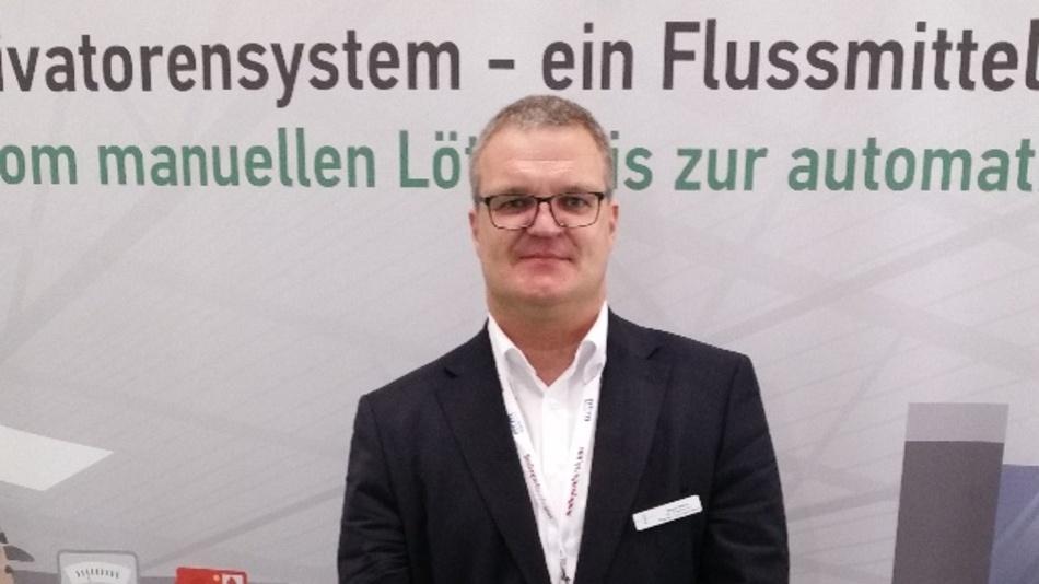Markus Geßner, Marketing- und Vertriebsleiter bei Emil Otto: »Mit unseren Reinigungsprodukten können wir den gesamten Fertigungsbereich einer Elektronikproduktion bedienen.«