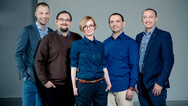StethoMe-Gründerteam (v.l.n.r.): Wojciech Radomski, Marcin Szajeknicht, Honorata Hafke-Dys, Jędrzej Kociński und Paweł Elbanowski