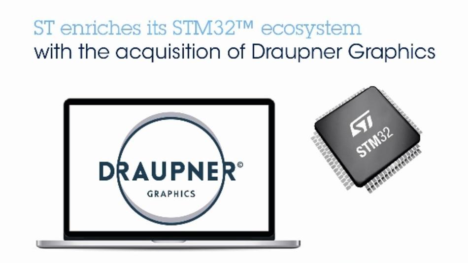 STMicroelectronics übernimmt den GUI-Hersteller Draupner.